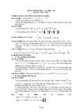 Đề thi thử đại học, cao đẳng môn Toán - đề 1