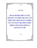 Đề tài : TRANG BỊ ĐIỆN ĐIỆN TỬ DÂY TRUYỀN CÁN THÉP NHÀ MÁY CÁN THÉP VIỆT NHẬT ĐI SÂU NGHIÊN CỨU XÂY DỰNG HỆ THỐNG ĐIÈU KHIỂN CÔNG ĐOẠN ĐÓNG BÓ BẰNG PLC S7-300