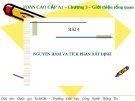 Bài 4: Nguyên hàm và tích phân bất định
