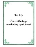 Tài liệu Các chiến lược marketing cạnh tranh