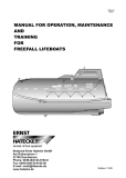 Manual for operation, maintenance and training for freefall lifeboats