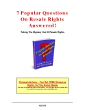 7 Popular Questions On Resale Rights Answered