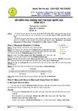 Đề kiểm tra chứng chỉ tin học quốc gia trình độ A- 2 - đại học An Giang ( 11/3/2012)