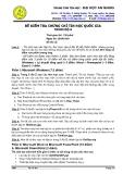 Đề kiểm tra chứng chỉ tin học quốc gia trình độ A-1  - đại học An Giang ( 26/6/2011)