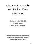 CÁC PHƯƠNG PHÁP ĐI TÌM Ý TƯỞNG SÁNG TẠO Thạc sĩ  Nguyễn Hoàng Khắc Hiếu - Tiến sĩ Huỳnh Văn Sơn