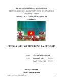 Đồ án tốt nghiệp - Phân tích thiết kế hệ thống - QUẢN LÝ GIẢI VÔ ĐỊCH BÓNG ĐÁ QUỐC GIA