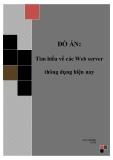 Đồ án tốt nghiệp - Phân tích thiết kế hệ thống - Tìm hiểu về các Web server thông dụng hiện nay