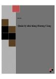Đồ án tốt nghiệp - Phân tích thiết kế hệ thống - Quản lý nhà hàng Hương Cảng