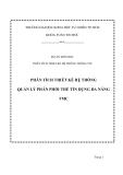 Đồ án tốt nghiệp - Phân tích thiết kế hệ thống - QUẢN LÝ PHÂN PHỐI THẺ TÍN DỤNG ĐA NĂNG TMC