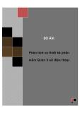 Đồ án tốt nghiệp - Phân tích thiết kế hệ thống - Quản lí số điện thoại