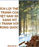 Phân tích lợi thế cạnh tranh của gỗ Việt Nam xuất khẩu sang Mỹ