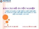 Khảo sát quản lý hệ thống chất thải rắn quận 5 - tphcm và đề xuất biện pháp quản lý phù hợp giai đoạn 2012-2020