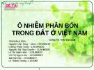 Ô nhiễm phân bón trong đất ở Việt Nam