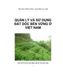 Quản lý và sử dụng đất dốc bền vững ở Việt nam