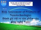 Báo cáo Đánh giá rủi ro sản phẩm của công nghệ nano - ĐH KHTN