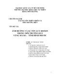 Báo cáo tốt nghiệp: Ảnh hưởng và sự tồn lưu đioxin trong môi trường đất vùng mã đà - tỉnh bình phước