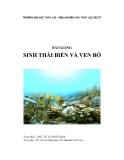 Bài giảng sinh thái biển và ven bờ