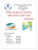 Tiểu luận Marketing: Công nghệ 3G Viettel thế giới là kết nối di động