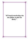Kế hoạch marketing cho sản phẩm cà phê lon Birdy