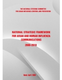 NATIONAL STRATEGIC FRAMEWORK FOR AVIAN AND HUMAN INFLUENZA COMMUNICATIONS 2008 - 2010