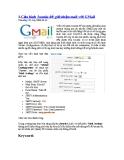Cấu hình Joomla để gửi/nhận mail với GMail