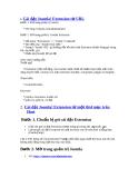 Cài đặt Joomla! Extension  từ URL