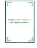 Giải pháp phát triển công nghệ cao trong nông nghiệp ở Việt Nam