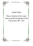 Đề tài nghiên cứu: Nâng cao năng lực cán bộ cơ quan Trung ương Hội Liên hiệp phụ nữ Việt Nam giai đoạn 2007 – 2015
