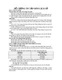 ĐỀ CƯƠNG ÔN TẬP MÔN LỊCH SỬ - BÀI 3: TRUNG QUỐC