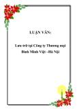 LUẬN VĂN: Lưu trữ tại Công ty Thương mại Bình Minh Việt –Hà Nội