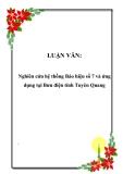 LUẬN VĂN: Nghiên cứu hệ thống Báo hiệu số 7 và ứng dụng tại Bưu điện tỉnh Tuyên Quang