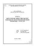 Phân tích hệ thống môi trường cho khu du lịch sinh thái Hồ Tràm tỉnh Bà Rịa - Vũng Tàu