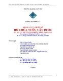 Khảo sát và thiết kế hồ chứa nước Cây Đuốc, xã An Cư, huyện Tịnh Biên, tỉnh An Giang