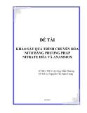 Khảo sát quá trình chuyển hóa nitơ bằng phương pháp nitrate hóa và anammox
