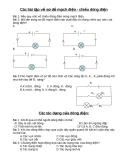 Các bài tập về sơ đồ mạch điện - chiều dòng điện