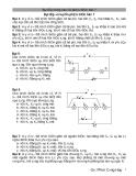 Bài tập ôn luyện phần điện học 7