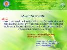 Tính toán thiết kế trạm xử lý nước thải sản xuất mía đường công ty TNHH MK Sugar Việt Nam, thị trấn Ma Lâm, huyện Hàm Thuận Bắc, công suất 250m3/ngày đêm