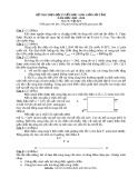 ĐỀ THI CHỌN ĐỘI TUYỂN HỌC SINH GIỎI CẤP TỈNH NĂM HỌC 2009 - 2010 Môn thi: Vật lý 9