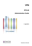 VPNR75.40Administration Guide11 April 2012Classification: [Protected].© 2012 Check Point
