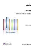 Gaia R75.40 Administration Guide