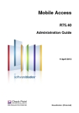 Mobile Access R75.40 Administration Guide