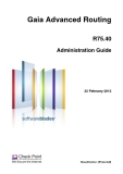 Gaia Advanced Routing R75.40 Administration Guide