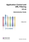 Application Control and URL Filtering R75.40 Administration Guide