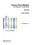 Check Point Mobile for Windows 32-bit/64-bit  E75.20 User Guide
