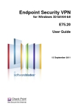 Endpoint Security VPN for Windows 32-bit/64-bit  E75.20 User Guide