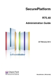SecurePlatform R75.40 Administration Guide
