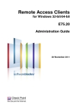 Remote Access Clients for Windows 32-bit/64-bit  E75.20 Administration Guide