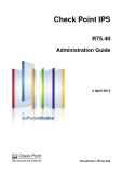 Check Point IPS R75.40 Administration Guide