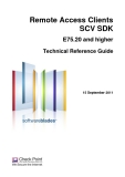 Remote Access Clients SCV SDKE75.20 and higherTechnical Reference Guide15 September 2011.©