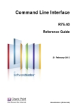 Command Line Interface R75.40 Reference Guide
